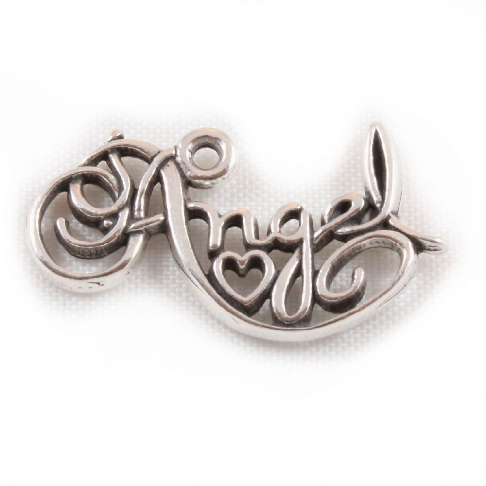 Charm School Uk Gt Sterling Silver Charms Gt Angel Word Charm